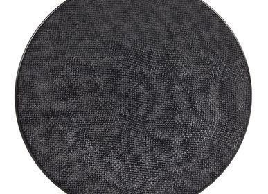 Everyday plates - ASSIETTE PLATE 27 CM VESUVIO NOIR - TABLE PASSION - BASTIDE