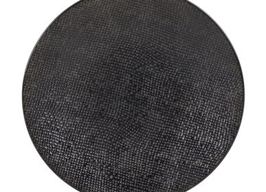 Everyday plates - ASSIETTE DESSERT 20.5 CM VESUVIO NOIR - TABLE PASSION - BASTIDE
