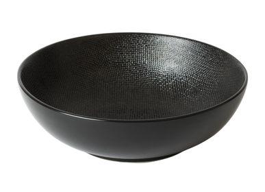 Platter, bowls - SALADIER 24 CM VESUVIO NOIR - TABLE PASSION - BASTIDE