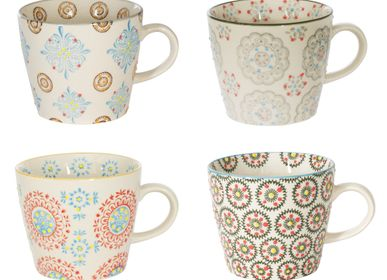 Tasses et mugs - COFFRET 4 TASSES GM H8CM ASSORTI BOHEME  - TABLE PASSION - BASTIDE