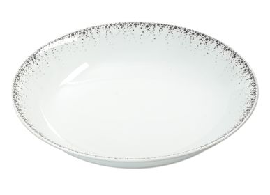 Platter and bowls - Round hollow dish 29 CM BOREALIS grey - TABLE PASSION - BASTIDE