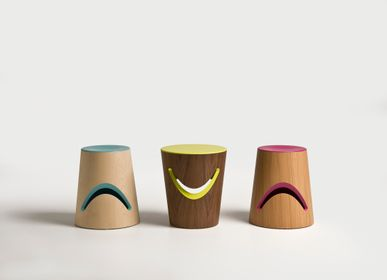 Tabourets - HAPPY & GRUMPY (SIDE TABLE OR STOOL/BOOKHOLDER) - EXTROVERSO