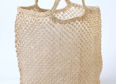 Bags and totes - Jute macrame shopping bag natural - MAISON BENGAL