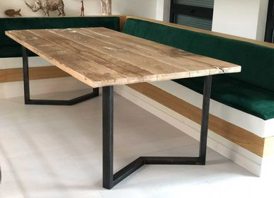Tables - Authentic Bergen table in oak planks - FOR ME LAB