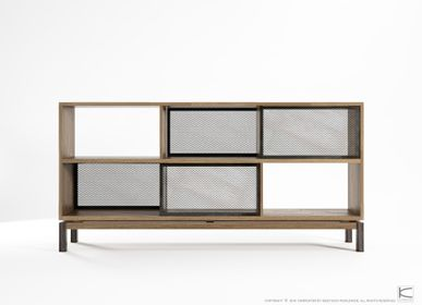 Buffets - Color Bebop Sideboard 4 Sliding Doors 6 Compartments - KARPENTER