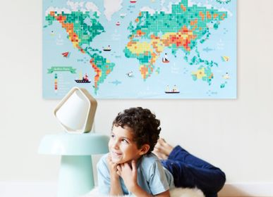 Creative Hobbies - Poster + 1600 Stickers - WORLD MAP - POPPIK
