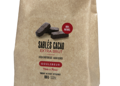 Cookies - PACK OF EXTRA BRUT COCOA INGOT-SHAPED SHORTBREADS - GOULIBEUR