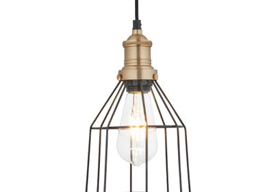 Suspensions - Brooklyn Wire Cage Pendant - 6 Inch - Cone - INDUSTVILLE