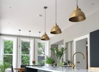 Pendant lamps - Brooklyn Dome Pendant - 13 Inch - Brass - INDUSTVILLE