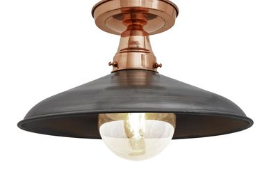 Ceiling lights - Barn Stem Flush Mount - 15 Inch - Copper & Pewter - INDUSTVILLE
