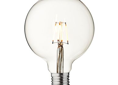 Lightbulbs for indoor lighting - Vintage LED Edison Bulb Old Filament Lamp - 5W E27 Globe G125 - INDUSTVILLE