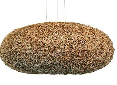 Hanging lights - ratan hanging lamp - BELLINO DULCE FORMA