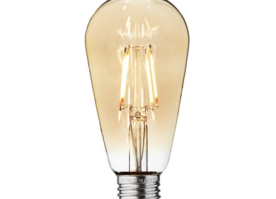 Lightbulbs for indoor lighting - Vintage LED Edison Bulb Old Filament Lamp - 5W E27 Pear ST64 - INDUSTVILLE
