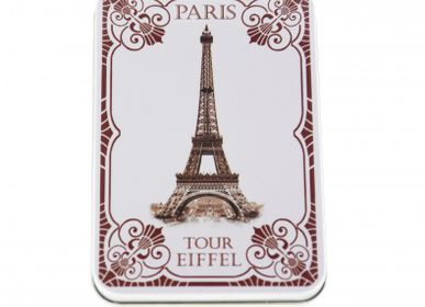 Soaps - Guest Soaps Tin Box EIFFEL TOWER 1900 Assorted - LE BLANC