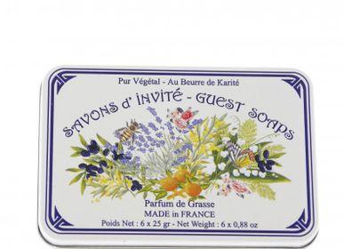 Savons - Boîte Métal Savon Invité 6x25g GRASSE - LE BLANC
