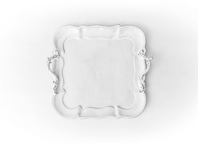 Platter, bowls - Small square platter Apolline - CARRON PARIS
