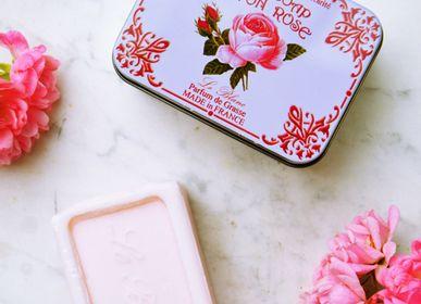 Savons - Savon ROSE Boîte Métal 100g - LE BLANC