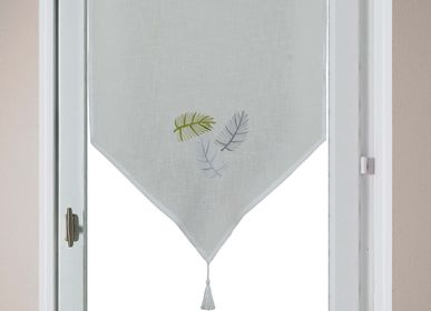 Curtains and window coverings - Vitrage Brodé ''Feuilles'' - IPC DECO DELL'ARTE