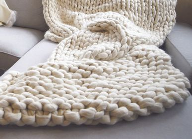 Throw blankets - Giant 100% pure baby alpaca throw - INNATA