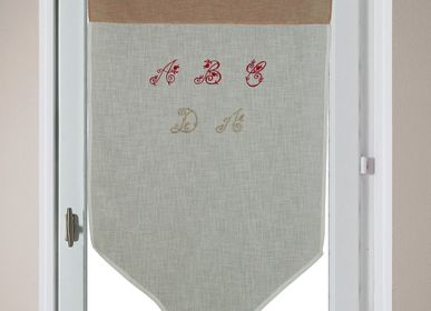 Curtains and window coverings - Vitrage Brodé ''ABécédaire'' - IPC DECO DELL'ARTE