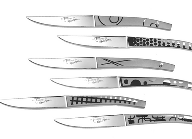 Flatware - SET OF 6 KNIVES TABLE LE THIERS ALL STAINLESS STEEL HOME DECOR - ROGER ORFÈVRE
