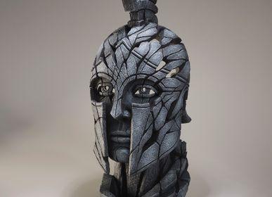 Ceramic - Spartan Bust - Edge Sculpture - EDGE SCULPTURE
