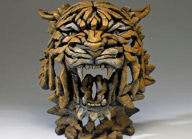Ceramic - Tiger Bust - Edge Sculpture - EDGE SCULPTURE