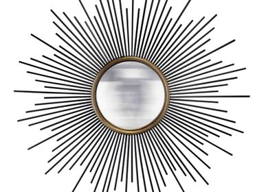 Mirrors - MIRROR SUN CONVEX GOLD AND BLACK - EMDE