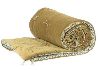 Cushions - Cushion DOMINOS  Tabac 35x50 cm - EN FIL D'INDIENNE...