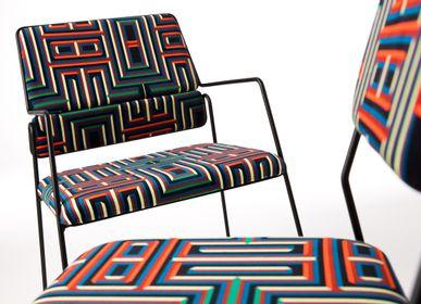 Chairs - Impala Armchair & Coralie Prévert Fabric - AIRBORNE