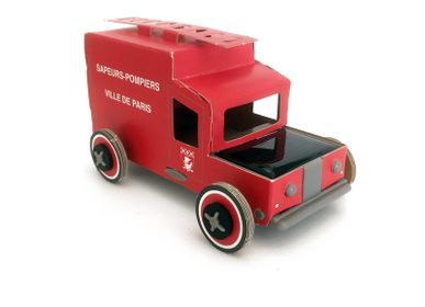 Gifts - Paris Fire Truck - LITOGAMI