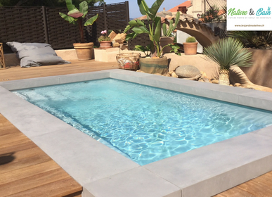 Pools - U-shaped contemporary swimmingpool surround - ROUVIERE COLLECTION