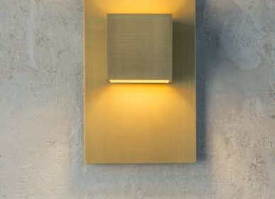 Outdoor wall lamps - CARRÉ GOLD - Wall light - HISLE
