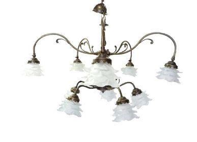 Art glass - Chandelier Art Nouveau style, Art Déco style, Baroque style - TIEF