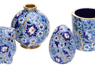 "Vases - ""Heritage"" collection - MANUFACTURE DES ÉMAUX DE LONGWY 1798"