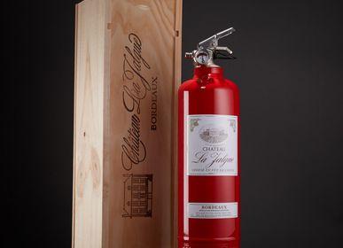 Verres à pied - Extincteur design coffret vin - FIRE DESIGN
