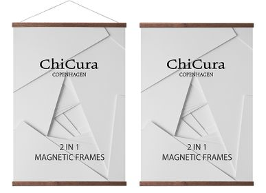 Wall decoration - 2 In 1 Magnetic Frames - Dark Brown - CHICURA COPENHAGEN