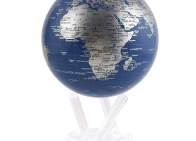 "Gift - 4.5"" Blue and Silver MOVA Globe - MOVA EUROPE"