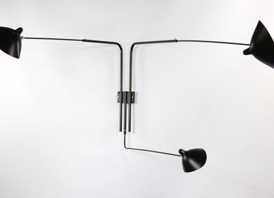 Outdoor wall lamps - 3, 4 or 5 ROTATING STRAIGHT ARM WALL LAMP - EDITIONS SERGE MOUILLE