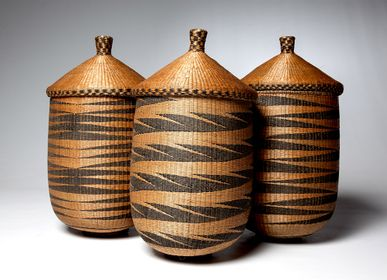 "Unique pieces - Ibiseke ""Agaseke ou Igiseke""  Tutsi Basketries - Rwanda/Burundi - KANEM"