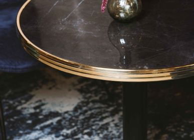 Dining Tables - ARDAMEZ • HAUSSMANN Bistro table - Ceramic with natural veins - Black - ARDAMEZ