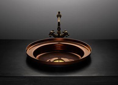 Spas - Vasque NARCIS rond cuivre brillant, clapet laiton - BASSINES