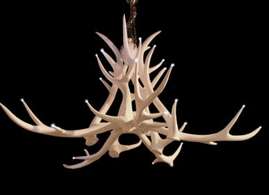 Hanging lights - RESIN ANTLER CHANDELIER - CLOCK HOUSE FURNITURE