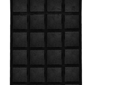 Tapis  - Cowhide with Merino Lamb Jet Black - KOKET