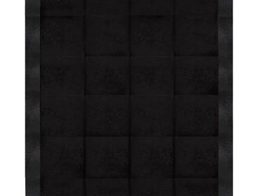 Tapis  - Stingray Embossed with Cowhide Jet Black - KOKET