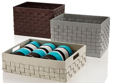 Decorative accessories - RIVIERE Outdoor leather baskets and accessories - RIVIERE