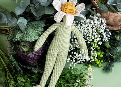 Soft toy - CAMILLE CHAMOMILE - FLOWER DOLL MEDIUM 100% ORGANIC COTTON - MYUM - THE VEGGY TOYS