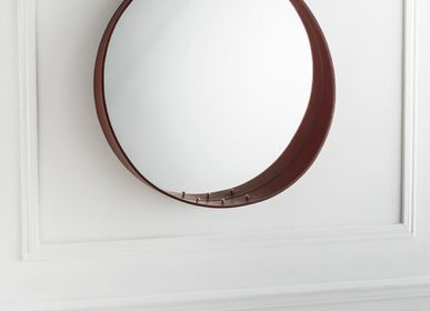 Mirrors - HAMAC, mirror and leather - GLASSVARIATIONS