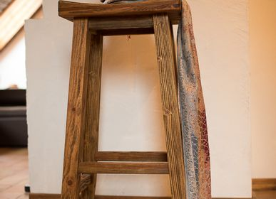 "Chairs - wooden bar stool  ""Cowboy"" - HYGGE DESIGN"
