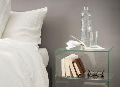 Objets design - CUBE bout de canapé ou table de chevet  - GLASSVARIATIONS